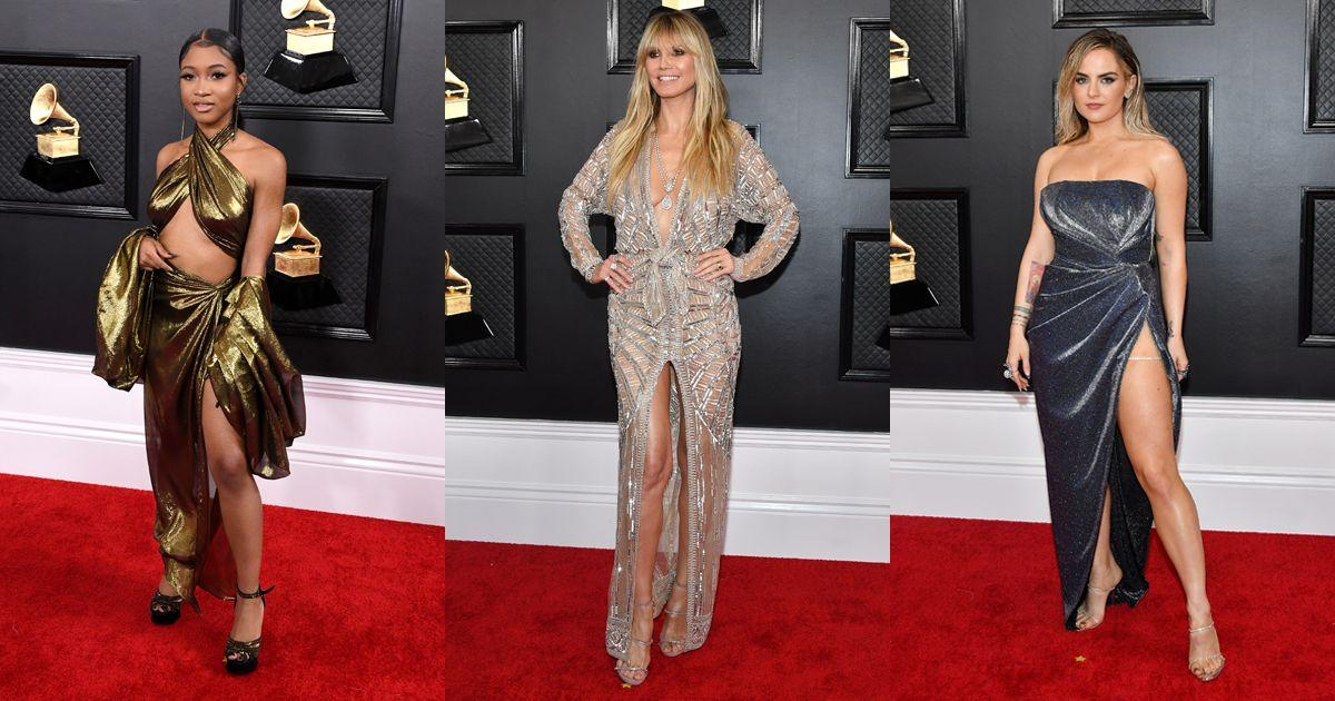 "<p>From Heidi Klum's lingerie-inspired gown to JoJo's hip-high dress split, these are the most naked gowns to grace the <a href=""https://www.cosmopolitan.com/uk/fashion/celebrity/g30653450/grammys-red-carpet-dresses-2020/"" target=""_blank"">2020 Grammy Awards' red carpet</a>.</p>"