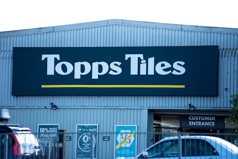 Topps Tiles in Rayleigh, England. (Photo by John Keebls/Getty Images)