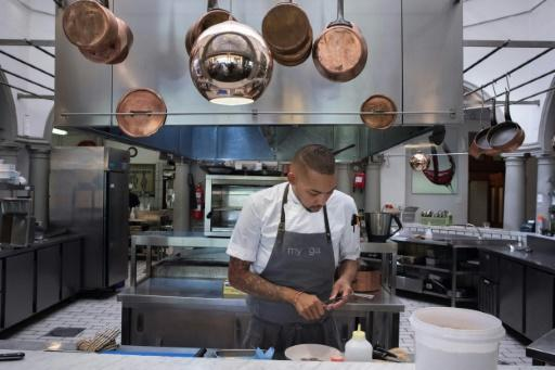 """Germaine Esau (pictured), head chef at Myoga restaurant in Cape Town, says Baleni salt is """"like nothing you've tasted before"""""""