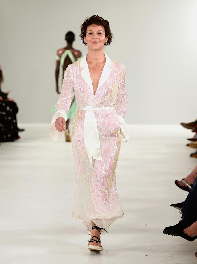 British actress Helen McCrory on the Temperley London catwalk [Photo: Getty]