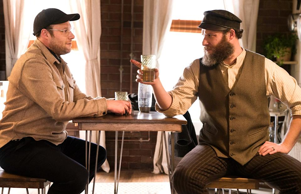 """A strange circumstance leads to Ben Greenbaum (Seth Rogen) getting to know his great-grandfather Herschel (also Rogen) in """"An American Pickle."""""""