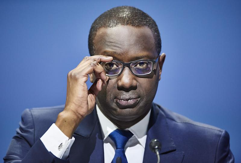 Credit Suisse chief executive officer Tidjane Thiam attends the annual shareholders meeting of the Swiss banking group in Zurich on April 28, 2017. / AFP PHOTO / Michael Buholzer (Photo credit should read MICHAEL BUHOLZER/AFP via Getty Images)