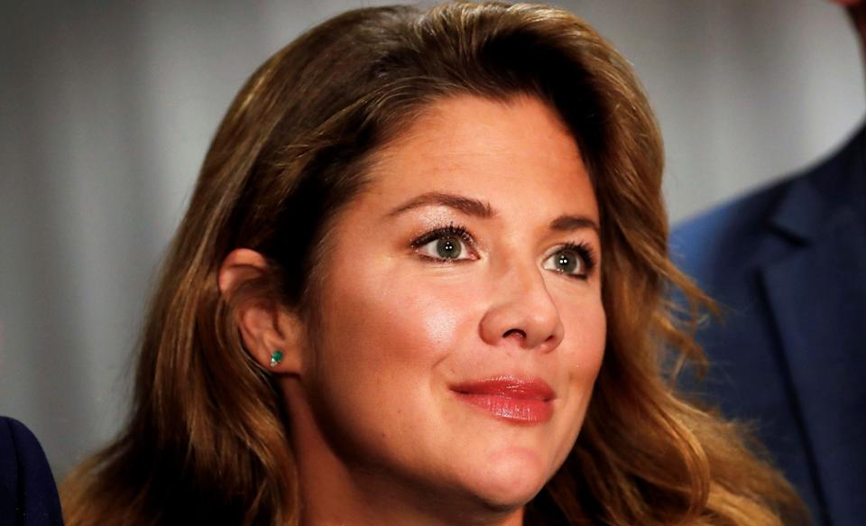 """Sophie Grégoire Trudeau appears at a rally for her husband, Prime Minister Justin Trudeau, on Oct. 11, 2019, in Burnaby, B.C.The mother of three says she has received a """"clear bill of health"""" after testing positive for COVID-19 on March 12. (Photo: Stephane Mahe/REUTERS)"""