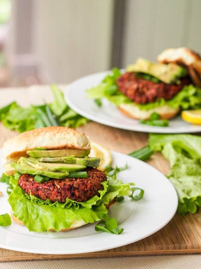 "<p>Not only are these veggie-packed burgers ultra-healthy, but they're also gluten-free! Made with beets, sweet potatoes, black beans, oats, and seeds and herbs, these will nourish you from the inside out.</p> <p><strong>Get the recipe</strong>: <a href=""https://avocadopesto.com/superfood-vegan-veggie-chia-seed-burger/"" target=""_blank"" class=""ga-track"" data-ga-category=""Related"" data-ga-label=""https://avocadopesto.com/superfood-vegan-veggie-chia-seed-burger/"" data-ga-action=""In-Line Links"">beet veggie burger</a></p>"