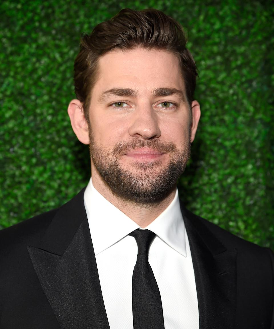 """<strong><h2>2014</h2></strong> A year later, Krasinski was officially on the beard bandwagon and sporting a slight fade at the Critics' Choice Movie Awards. <span class=""""copyright"""">Photo: Kevin Mazur/WireImage.</span>"""