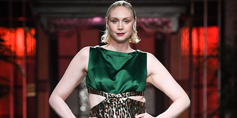 e1b8f6d19cf2 Game of Thrones  Star Gwendoline Christie Just Walked the Miu Miu ...