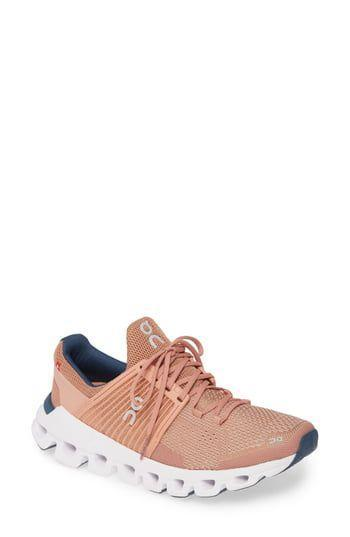 """<p><strong>ON</strong></p><p>nordstrom.com</p><p><strong>$150.00</strong></p><p><a href=""""https://go.redirectingat.com?id=74968X1596630&url=https%3A%2F%2Fshop.nordstrom.com%2Fs%2Fon-cloudswift-running-shoe-women%2F5226979&sref=https%3A%2F%2Fwww.harpersbazaar.com%2Ffashion%2Ftrends%2Fg33234271%2Fcute-running-shoes-for-women%2F"""" rel=""""nofollow noopener"""" target=""""_blank"""" data-ylk=""""slk:Shop Now"""" class=""""link rapid-noclick-resp"""">Shop Now</a></p><p>A sneaker that will have you showing some skin in more ways than one. </p>"""