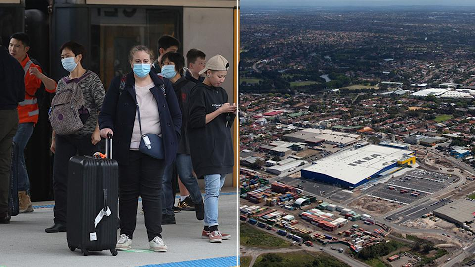 NSW Health have identified several new exposure sites, including IKEA at Tempe and train lines. Source: AAP