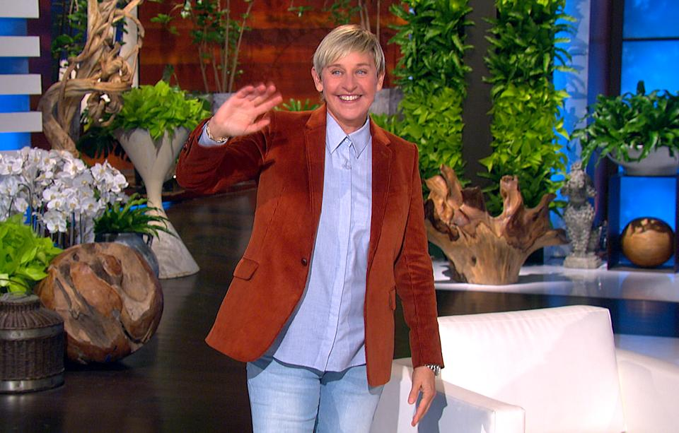 Ellen DeGeneres Show returned on Wednesday - more than a month after the host fell ill with COVID-19.  (Photo: Warner Bros.)