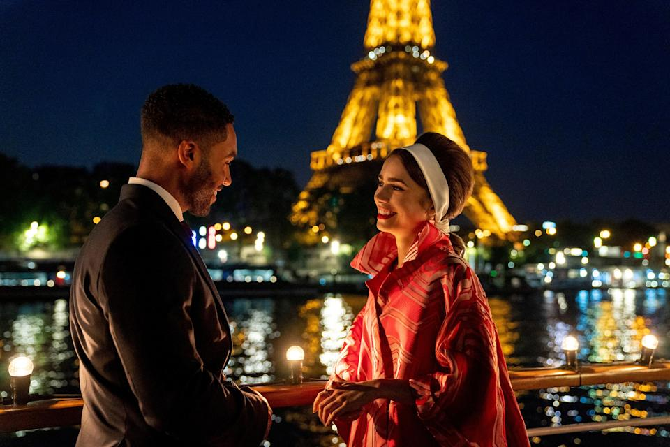 Lucien Laviscount as Alfie and Collins as Emily in episode 205