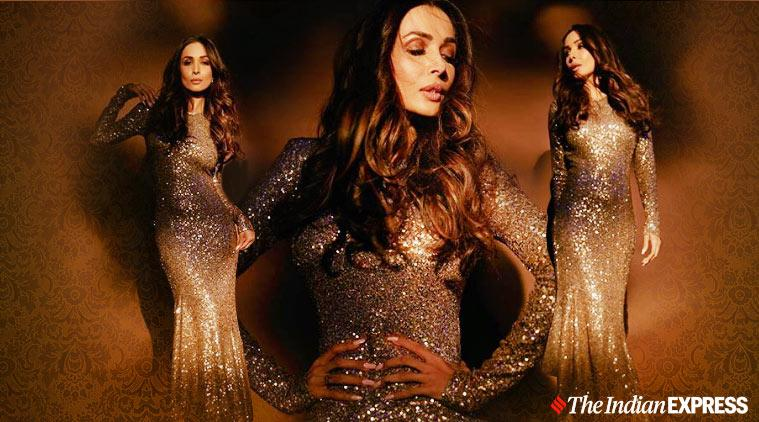Malaika Arora, Malaika Arora fashion, Malaika Arora shimmery body con dress, Malaika Arora pictures, Malaika Arora movies, indian express news