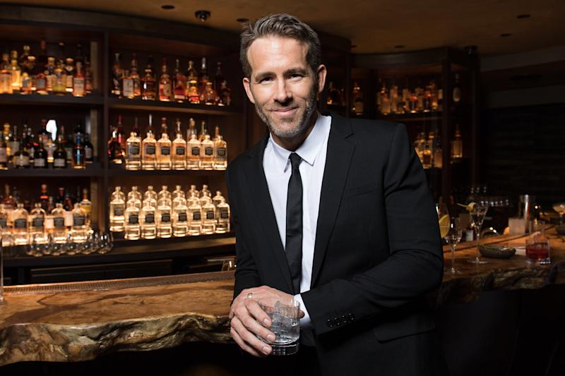 EDITORIAL USE ONLY Ryan Reynolds hosts a private cocktail reception at HIDE in Mayfair, London, to celebrate his recent acquisition of Aviation; an American craft gin brand of which he is now Owner and Creative Director.