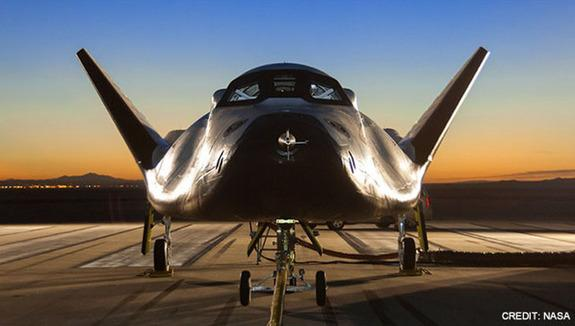 The Dream Chaser space plane designed by Sierra Nevada Space Systems is one of several private space taxis NASA is considering to launch American astronauts on round trips to the International Space Station. A decision is expected in late Augus