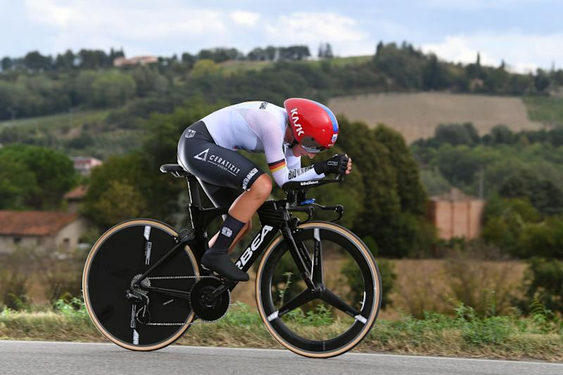 IMOLA ITALY SEPTEMBER 24 Lisa Brennauer of Germany during the 93rd UCI Road World Championships 2020 Women Elite Individual Time Trial a 317km stage from Imola to Imola ITT ImolaEr2020 Imola2020 on September 24 2020 in Imola Italy Photo by Tim de WaeleGetty Images