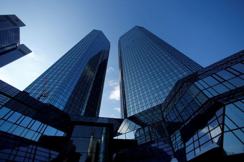 FILE PHOTO: The headquarters of the Deutsche Bank is pictured in Frankfurt