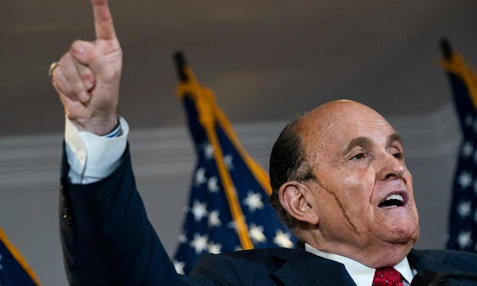 Giuliani also recited a scene from the 1992 Oscar-winning comedy My Cousin Vinny.