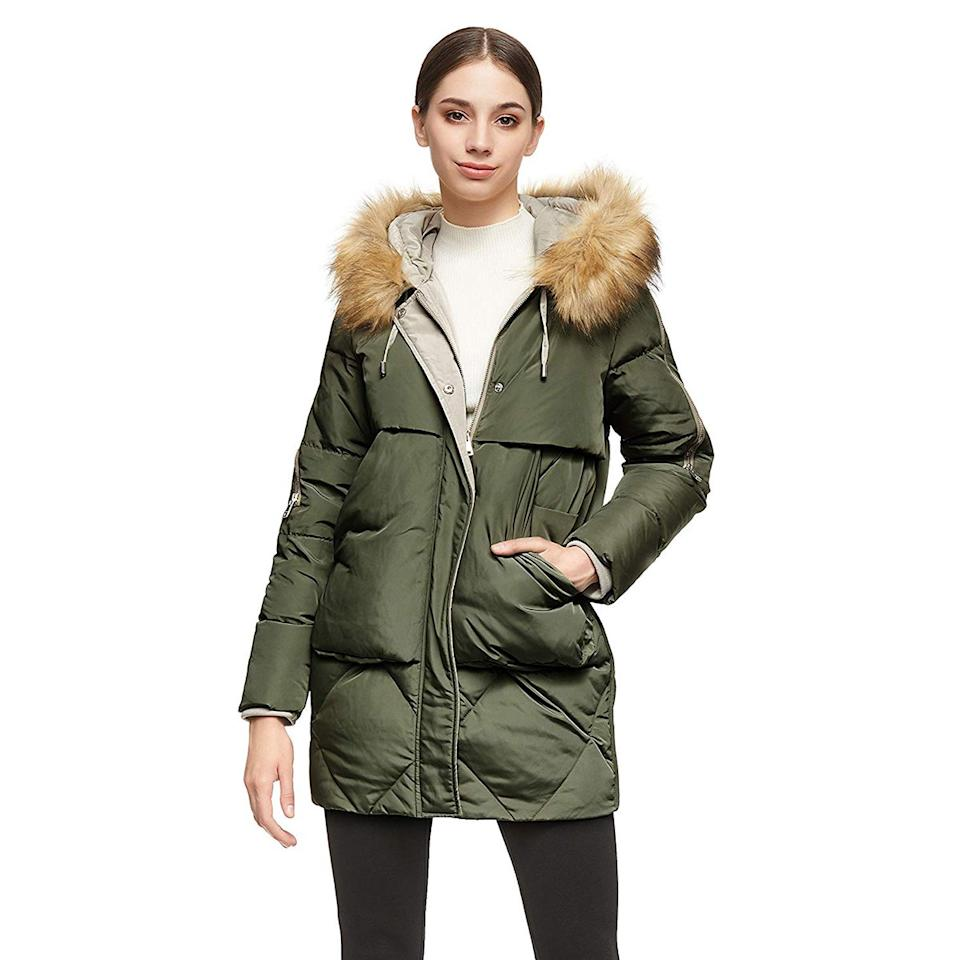 """<p>Like Orolay's best-selling jacket, this alternative features two roomy pockets front and center with enough space for your phone, keys, wallet, and other essentials.</p> <p><strong>Shop Now: </strong>$110<strong>; </strong><a href=""""https://www.amazon.com/Orolay-Thickened-Removable-Pockets-ArmyGreen/dp/B07RKZ1X6H/ref=as_li_ss_tl?ie=UTF8&linkCode=ll1&tag=isfasorolaypuffercoatsamazonjmattern0219-20&linkId=ecca8fa1a52d36c38816f908a12923ad"""" target=""""_blank"""">amazon.com</a></p>"""