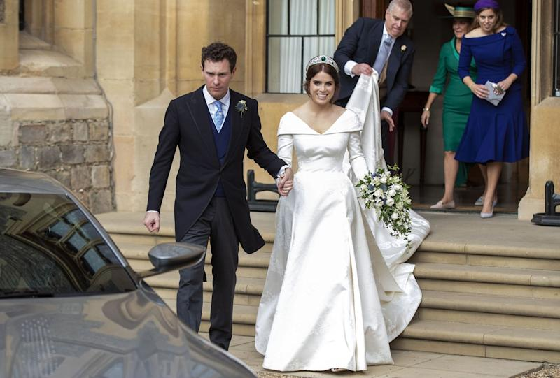 Prince Harry and Princess Eugenie's wedding portraits compared