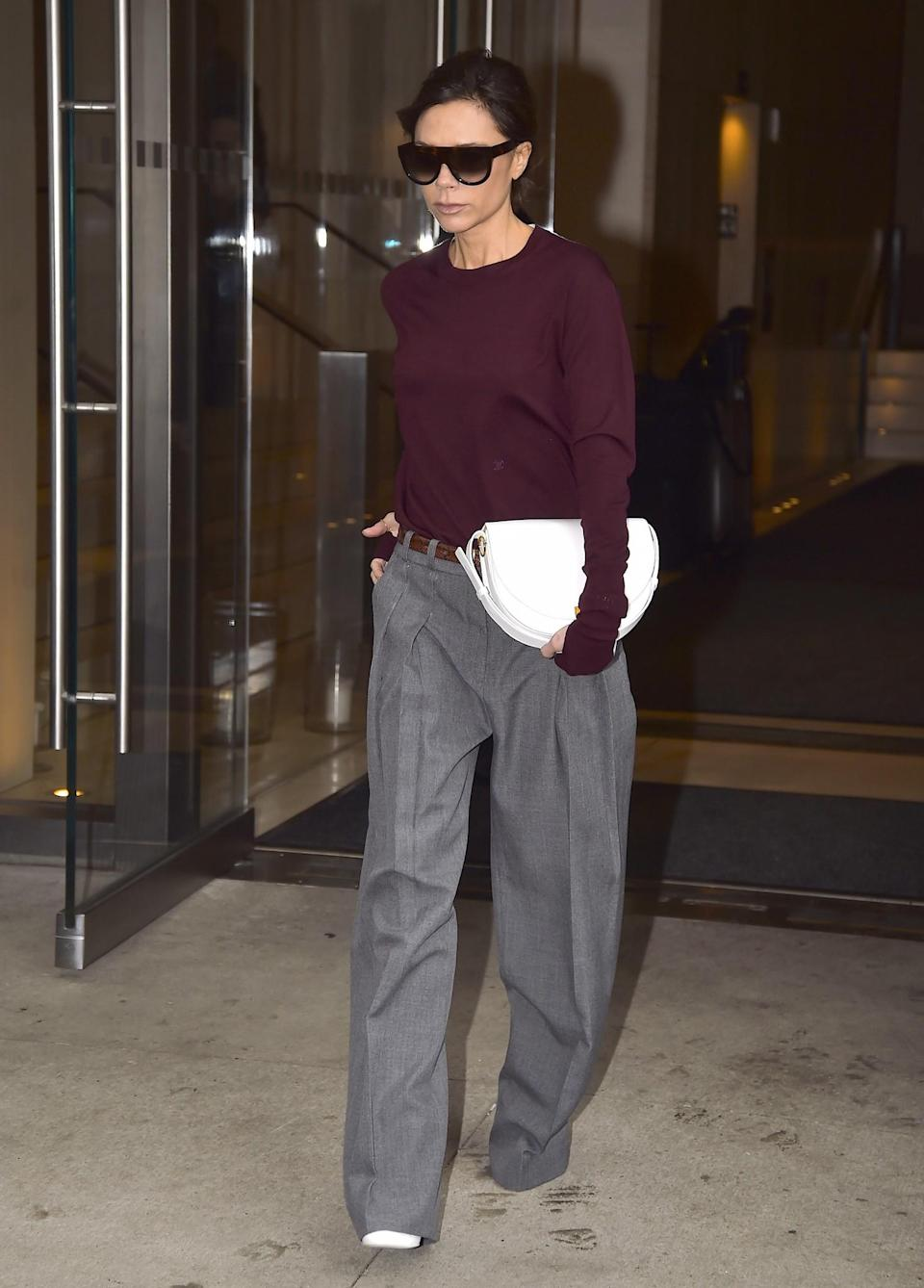 <p>Are mannish trousers what we'll all be wearing next? Looks like it. <em>[Photo: Getty]</em> </p>
