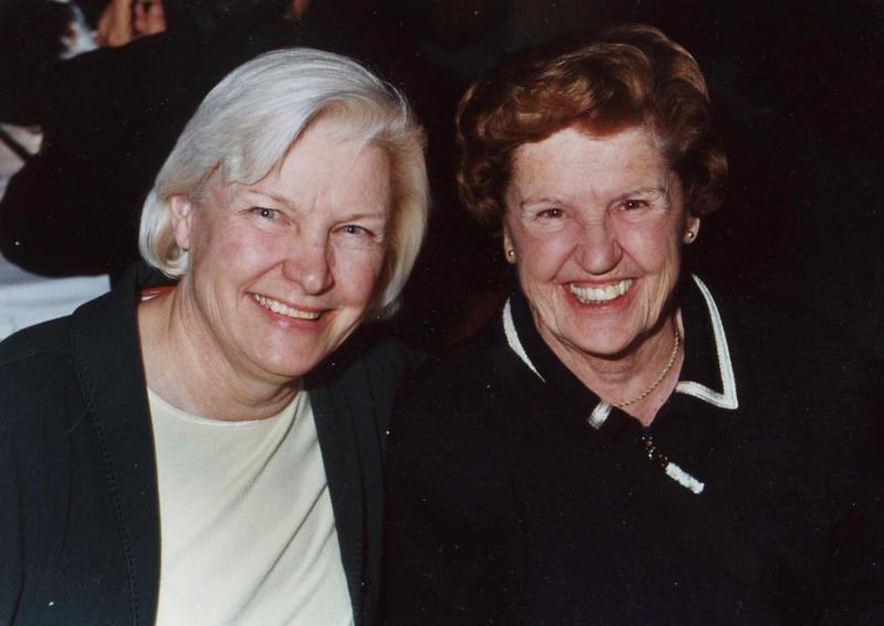 In this 2008 Cafferata family photo, Patty Cafferata, left, poses with her mother, Rep. Barbara Vucanovich. Vucanovich, who was the first woman to represent Nevada in Congress and went on to serve the sprawling, rural 2nd Congressional District for 14 years, died Monday, June 10, 2013 after a short illness, family members said. She was 91. She died at an assisted living complex in Reno after breaking her pelvis in February and never fully recovering, said Cafferata. (AP Photo/Cafferata Family Photo)
