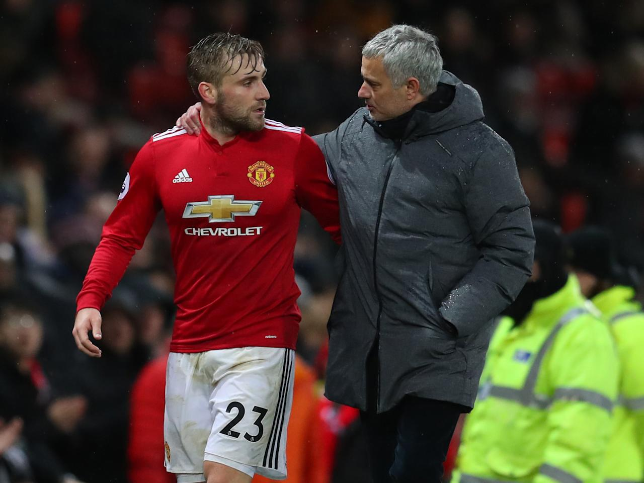 Jose Mourinho heaps praise on Luke Shaw amidst talk of his Manchester United exit
