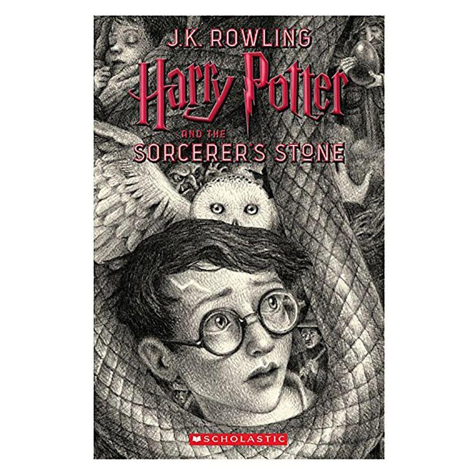 """<p><strong>Harry Potter</strong></p><p>amazon.com</p><p><strong>$46.50</strong></p><p><a href=""""https://www.amazon.com/dp/1338218395?tag=syn-yahoo-20&ascsubtag=%5Bartid%7C10055.g.23595566%5Bsrc%7Cyahoo-us"""" rel=""""nofollow noopener"""" target=""""_blank"""" data-ylk=""""slk:Shop Now"""" class=""""link rapid-noclick-resp"""">Shop Now</a></p><p>If the pages of their copies are nearly falling out (from re-reading so many times!) gift them this special edition boxed set. The best part? They feature brand-new covers (designed by Brian Selznick) that display a black-and-white mural when put side-by-side. </p>"""