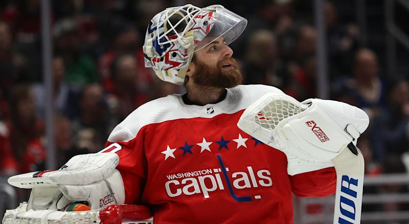 In a contract year, Braden Holtby has not had his best season. (Getty Images)