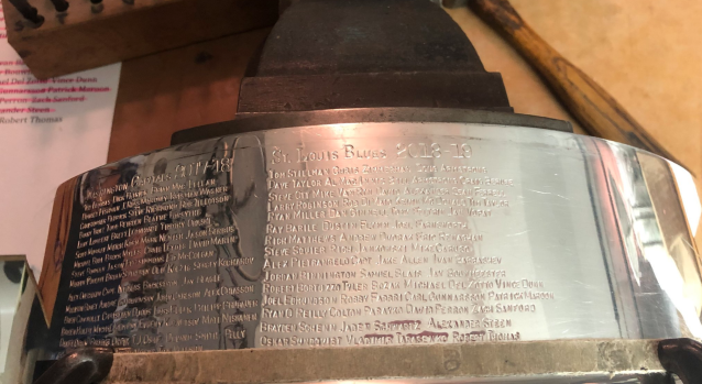 The St. Louis Blues have officially been etched onto hockey's greatest prize. (Twitter // keeperofthecup)