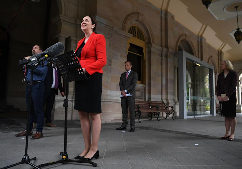 Queensland will review each month and decide when to open its borders up, citing concerns for community transmission in NSW and Victoria. Source: AAP