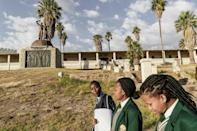 A memorial in tribute to the victims of the genocide Namibia's capital Windhoek