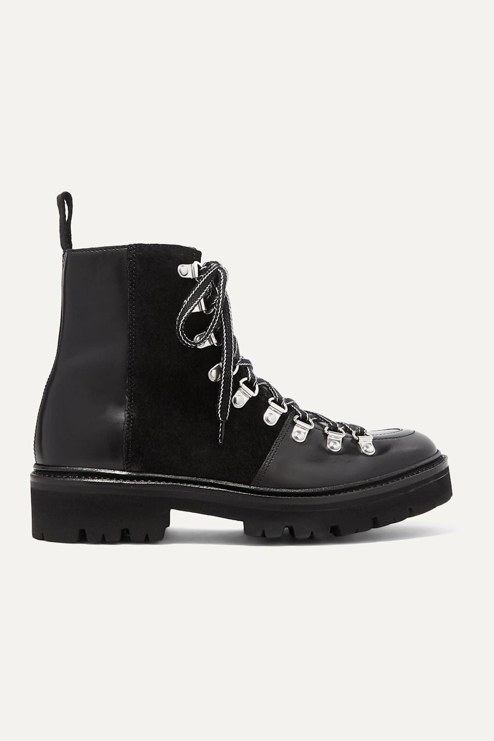 """<p>""""Like I said, I'll take any flat boot I can get. <span>Grenson's Black Nanette Leather and Suede Ankle Boots</span> ($400) are so well made, and they look pretty luxe too, as proven by the brand's fanbase of influencers and supermodels who are getting in on <a href=""""https://www.popsugar.com/fashion/boot-trends-fall-2020-47796190"""" class=""""link rapid-noclick-resp"""" rel=""""nofollow noopener"""" target=""""_blank"""" data-ylk=""""slk:the hiking-boot trend"""">the hiking-boot trend</a>.""""</p>"""
