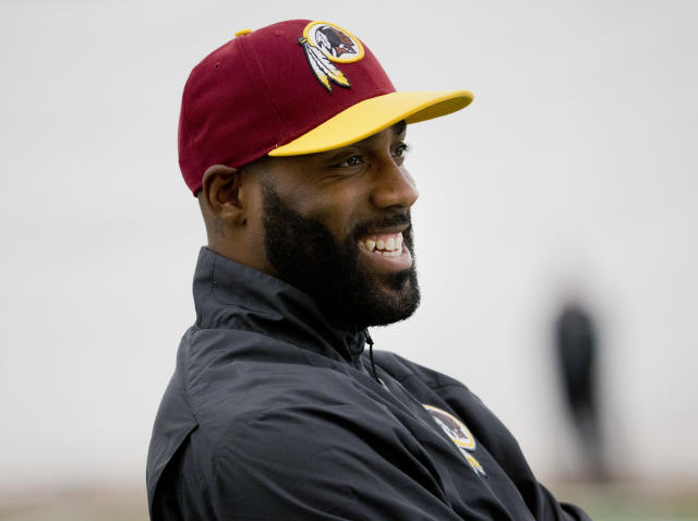DeAngelo Hall was saved from a massive bar bill by Paris Hilton. (AP Photo/Pablo Martinez Monsivais)