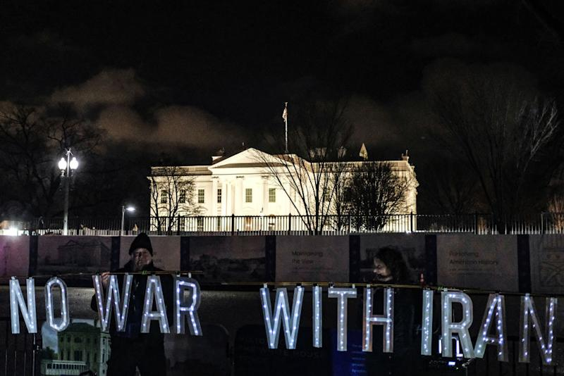 Protesters demonstrate outside the White House. Source: Getty