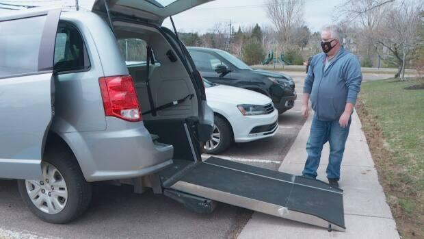 This accessible taxi, with space for a wheelchair in the back and seating for four, cost $57,000 new.
