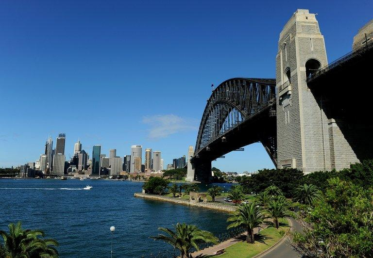 The Sydney skyline. Hundreds of heavily armed Australian police have swooped on motorcycle gangs in Sydney and surrounding areas, arresting high-ranking members and seizing explosives, guns, drugs and cash