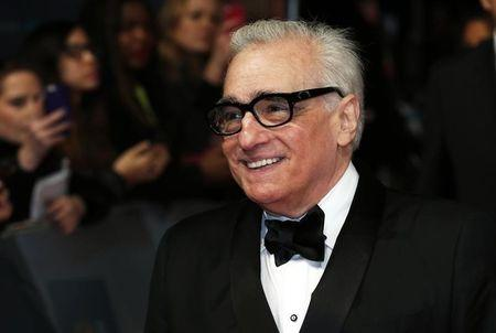 Director Martin Scorsese arrives at the British Academy of Film and Arts awards ceremony at the Royal Opera House in London