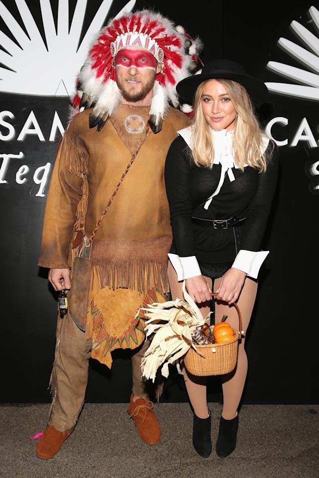 "<p>The actress's brief relationship with trainer beau Jason Walsh came to a screeching halt after they stepped out in these culturally insensitive costumes — a sexy pilgrim (yes, there is a sexy version of everything!) and Native American chief — in 2016. The <i>Younger</i> star apologized via social media, writing, ""It was not properly thought through and I am truly, from the bottom of my [heart] sorry."" Walsh took to social media to admit he made a bad decision, too. (Photo: Todd Williamson/Getty Images) </p>"