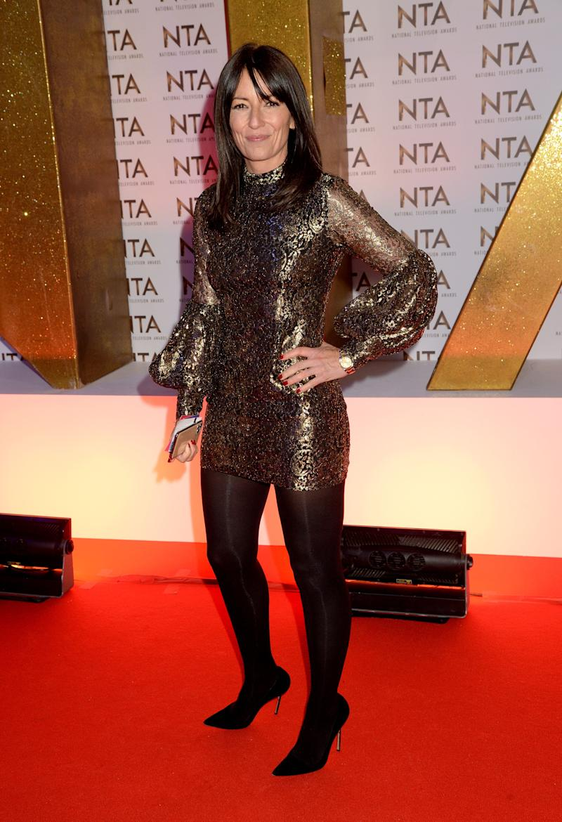 LONDON, ENGLAND - JANUARY 28: Davina McCall attends the National Television Awards 2020 at The O2 Arena on January 28, 2020 in London, England. (Photo by Dave J Hogan/Getty Images)
