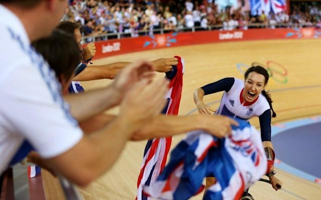 <span>Dani King has defended British Cycling</span> <span>Credit: GETTY IMAGES </span>