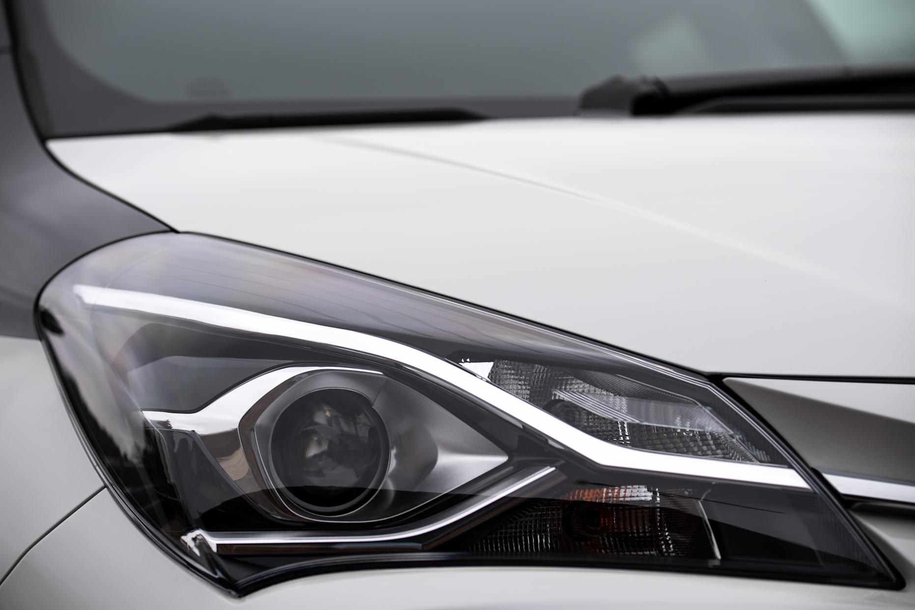 LED headlights are a striking feature of the Y20