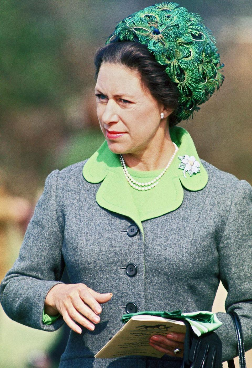 "<p>Long before the term ""peacocking"" entered the popular vernacular, Princess Margaret was showing her stuff.<br></p>"