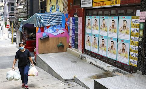 Closed down shops and bars are an increasingly common sight in areas such as Lan Kwai Fong. Photo: Nora Tam