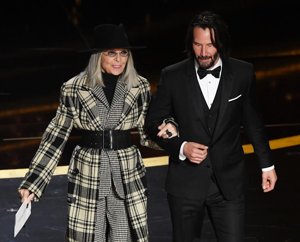 Diane Keaton and Keanu Reeves (Photo by Kevin Winter/Getty Images)