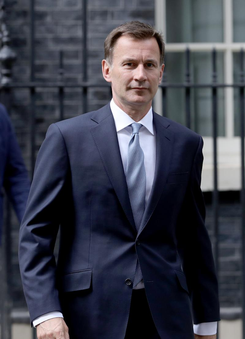File photo dated 20/07/19 of former foreign secretary Jeremy Hunt, who has said that the United States is not acting like an ally over the extradition of Anne Sacoolas.