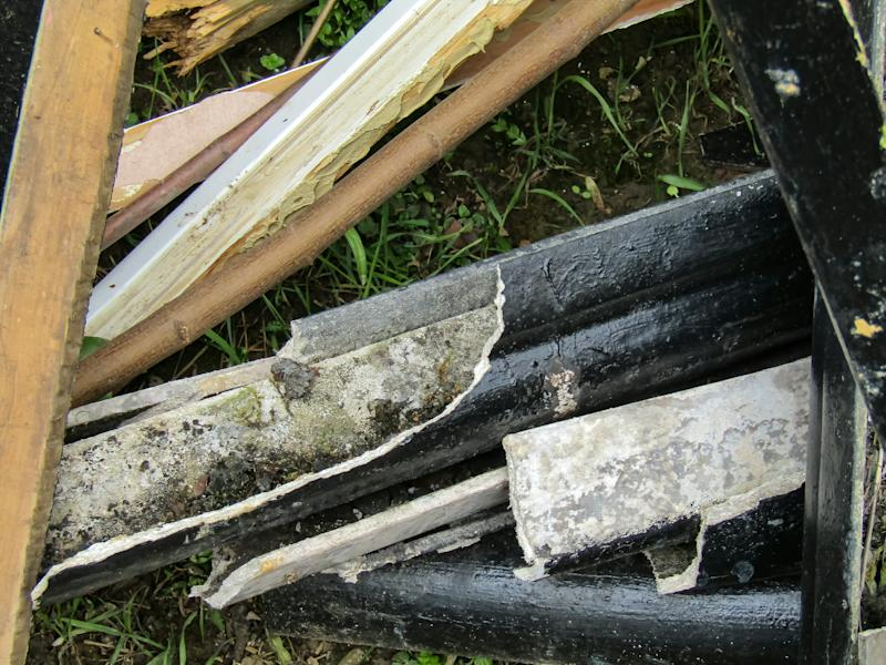Asbestos piping was reportedly left at the property by the builders. (SWNS)
