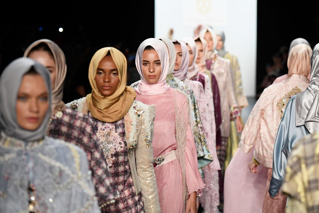 <p>The modest fashion movement had a storming year this year. And what better way to chalk up another win for inclusivity than having the first ever all-hijab runway to appear at New York Fashion Week? Back in September Muslim designer, Anniesa Hasibuan debuted her modest collection and became not only the first Indonesian to show at one of the official NYFW venues but also the first to present a collection that had every look outfitted with hijabs. And boy was it stunning. [Photo: Getty] </p>