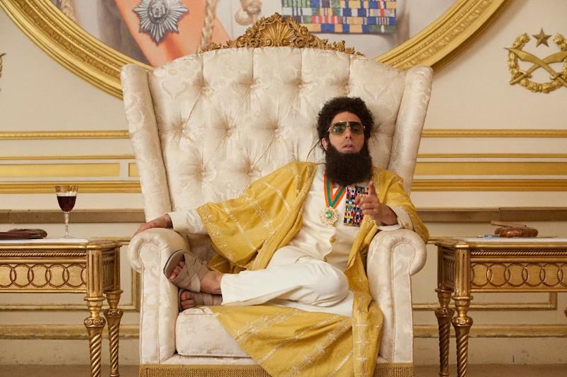 "In this film image released by Paramount Pictures, Sacha Baron Cohen, portrays Admiral General Aladeen in a scene from ""The Dictator."" (AP Photo/Paramount Pictures, Melinda Sue Gordon)"