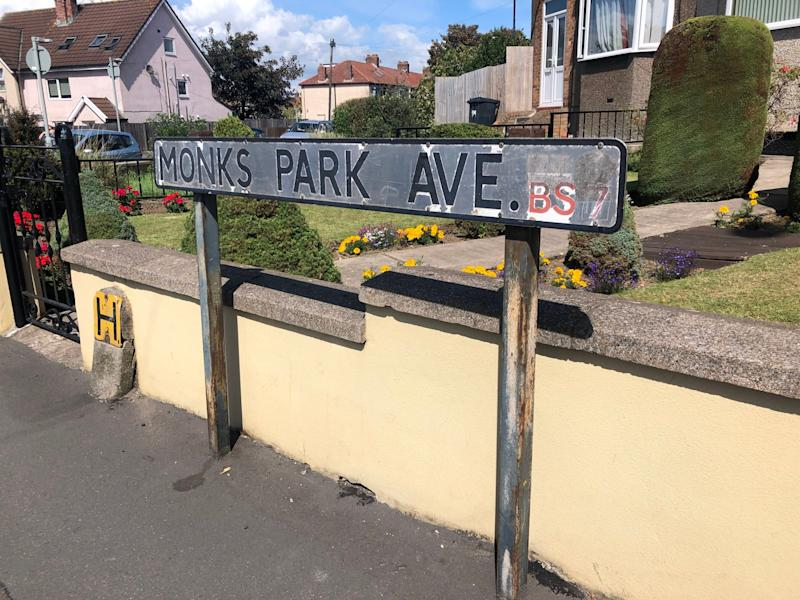 Dozens gathered on Monks Park Avenue in Bristol, where the victim was attacked on July 22 (PA)