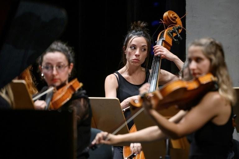 To mark their 10th anniversary season this year, the Nexus orchestra has decided to use artificial intelligence to create a four-minute extract of Beethoven's Tenth Symphony (AFP/Fabrice COFFRINI)