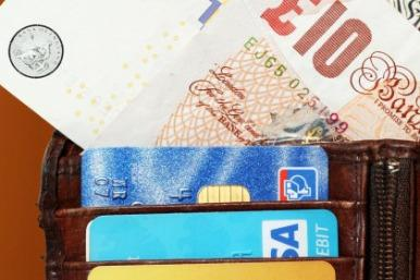 Wallet with cards and money